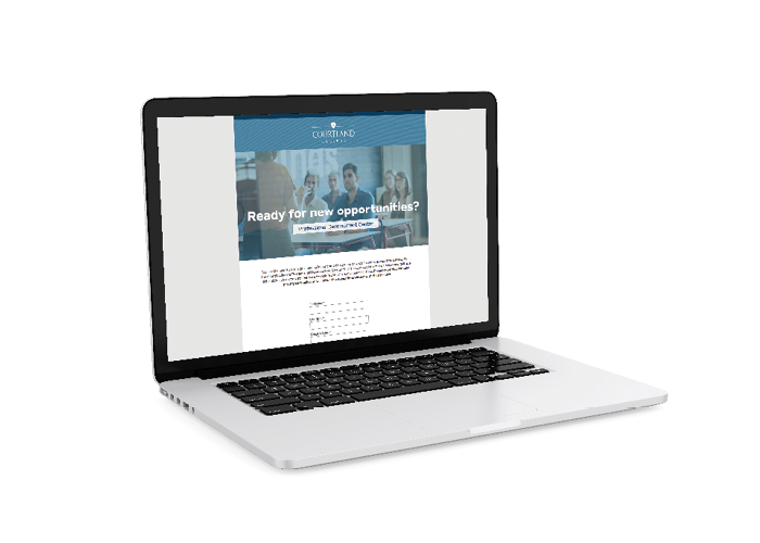 Courtland College Landing Page